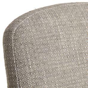 Chaise en hévéa et tissu losange gris - Romy - Visuel n°8