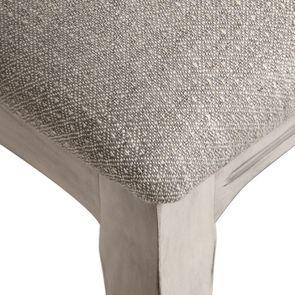 Chaise en hévéa et tissu losange gris - Romy - Visuel n°9
