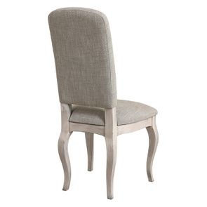 Chaise en hévéa et tissu losange gris - Romy - Visuel n°4