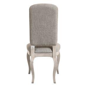 Chaise en hévéa et tissu losange gris - Romy - Visuel n°5