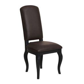 Chaise en frêne massif et éco-cuir chocolat - Romy - Visuel n°2