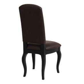 Chaise en frêne massif et éco-cuir chocolat - Romy - Visuel n°3
