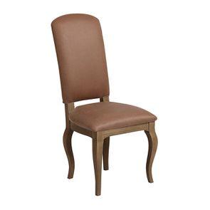 Chaise en éco-cuir cognac - Romy