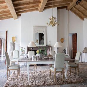 Chaise en frêne massif et tissu vert amande - Romy - Visuel n°3