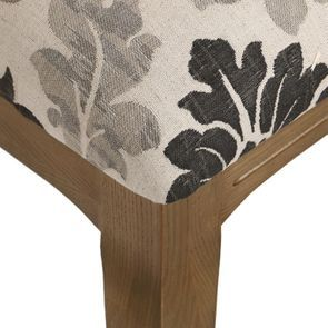 Chaise en tissu arabesque et frêne massif - Romy - Visuel n°34
