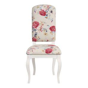 Chaise en tissu jardin anglais et hévéa massif - Romy