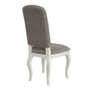 Chaise en tissu gris chambray et hévéa massif - Romy - Visuel n°3