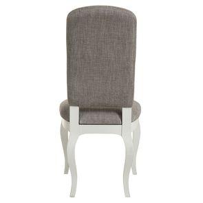 Chaise en tissu gris chambray et hévéa massif - Romy - Visuel n°4