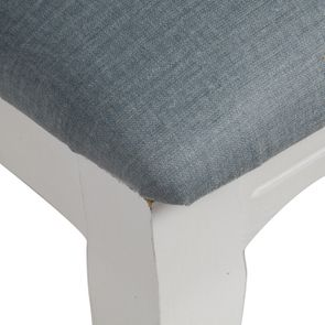 Chaise en hévéa massif et tissu vert sauge toucher velours - Romy - Visuel n°8