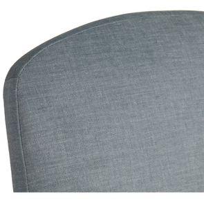 Chaise en hévéa massif et tissu vert sauge toucher velours - Romy - Visuel n°9