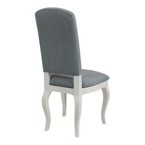 Chaise en hévéa massif et tissu vert sauge toucher velours - Romy - Visuel n°4