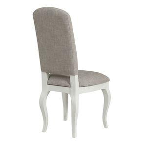 Chaise en tissu losange gris et hévéa massif - Romy - Visuel n°3