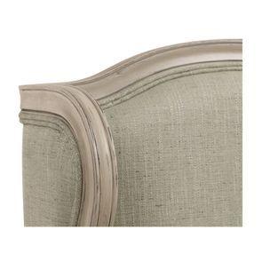 Fauteuil bergère en hévéa et tissu vert amande - Césarine - Visuel n°16