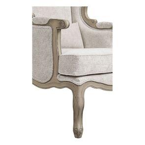 Fauteuil bergère en tissu arabesque perle - Césarine - Visuel n°10