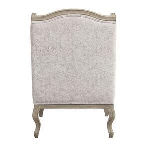 Fauteuil bergère en tissu arabesque perle - Césarine - Visuel n°5