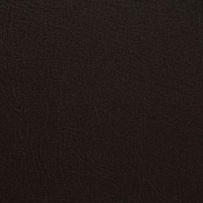 Fauteuil bergère en bois noir et éco-cuir chocolat - Césarine - Visuel n°8