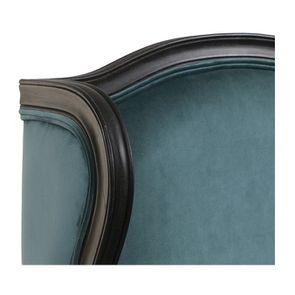 Fauteuil bergère en hévéa et tissu vert bleuté - Césarine - Visuel n°8