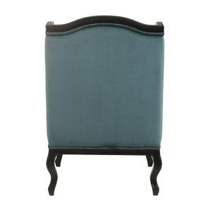 Fauteuil bergère en hévéa et tissu vert bleuté - Césarine - Visuel n°5