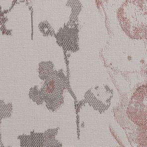 Fauteuil à oreilles en tissu fleur opaline - Césarine