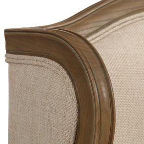 Fauteuil bergère en tissu ficelle - Césarine - Visuel n°9