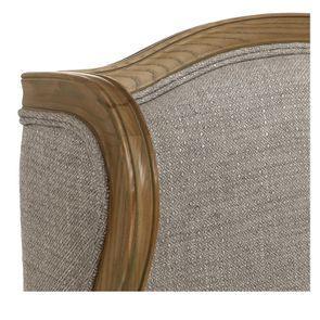 Fauteuil en tissu losange gris et frêne massif - Césarine - Visuel n°18