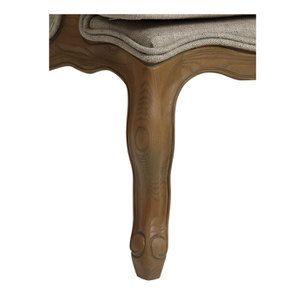Fauteuil bergère en tissu mastic grisé - Césarine