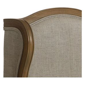 Fauteuil bergère en tissu mastic grisé - Césarine - Visuel n°9