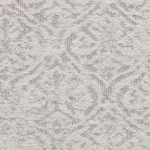 Fauteuil bergère en tissu arabesque perle et frêne - Césarine