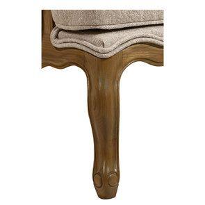 Fauteuil bergère en tissu fleur de coton - Césarine