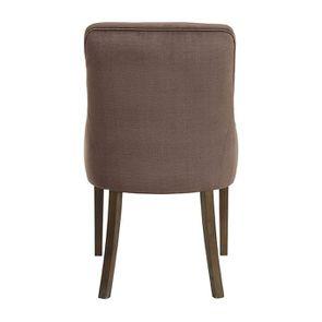 Fauteuil de table en tissu marron glacé - Jude - Visuel n°4