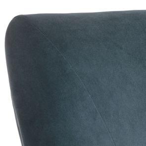 Fauteuil de table en hévéa et tissu velours vert bleuté - Jude - Visuel n°8
