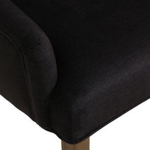 Fauteuil de table en frêne et tissu anthracite - Jude - Visuel n°9