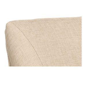Fauteuil de table en tissu ficelle et frêne massif - Jude - Visuel n°8
