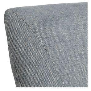 Fauteuil de table en tissu bleu chambray et frêne massif - Jude - Visuel n°30
