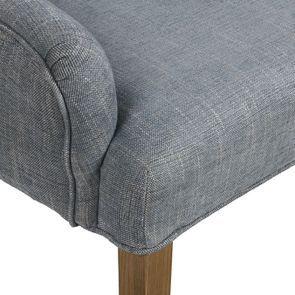 Fauteuil de table en tissu bleu chambray et frêne massif - Jude - Visuel n°34