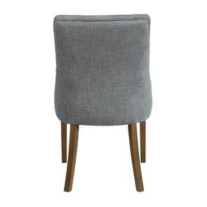 Fauteuil de table en tissu bleu chambray et frêne massif - Jude - Visuel n°18