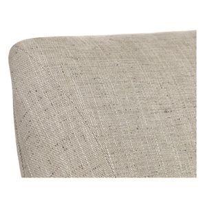 Fauteuil de table en tissu mastic grisé et frêne massif - Jude - Visuel n°8