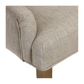 Fauteuil de table en tissu mastic grisé et frêne massif - Jude - Visuel n°9