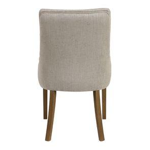 Fauteuil de table en tissu mastic grisé et frêne massif - Jude - Visuel n°5