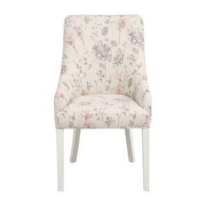 Fauteuil de table en tissu fleurs opaline - Jude