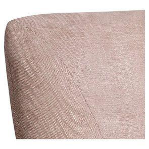 Fauteuil de table en tissu vieux rose - Jude - Visuel n°8