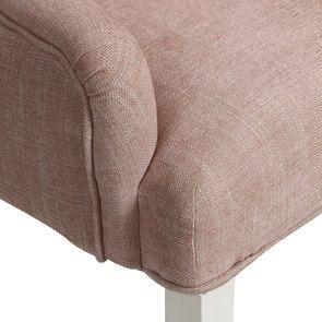 Fauteuil de table en tissu vieux rose - Jude - Visuel n°9