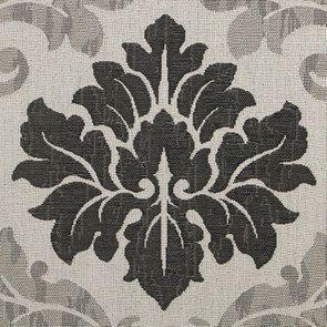Pouf en frêne  massif et tissu arabesque - Hector - Visuel n°7