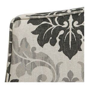 Pouf en frêne  massif et tissu arabesque - Hector - Visuel n°8