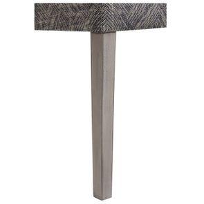 Chaise en tissu mosaïque indigo et hévéa massif noir - Albane - Visuel n°6