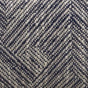 Chaise en tissu mosaïque indigo et hévéa massif noir - Albane - Visuel n°7