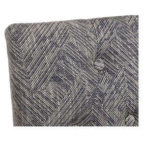 Chaise en tissu mosaïque indigo et hévéa massif noir - Albane - Visuel n°8