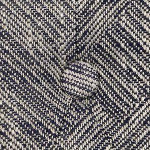 Chaise en tissu mosaïque indigo et hévéa massif noir - Albane - Visuel n°10