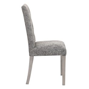 Chaise en tissu mosaïque indigo et hévéa massif noir - Albane - Visuel n°3