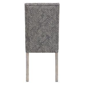 Chaise en tissu mosaïque indigo et hévéa massif noir - Albane - Visuel n°5